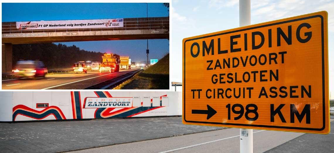Ludieke acties door rivalen uit Zandvoort en Assen